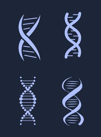 DNA Deoxyribonucleic Acid Chains Set, Nucleotide