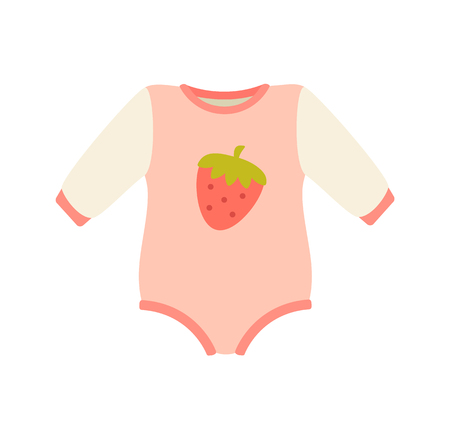 Baby Suit Clothes and Romper Vector Illustration Standard-Bild - 101964730