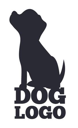 Dog Lolo, Black and White Card Vector Illustration Illustration