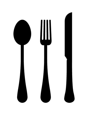 Three Templates of Cutlery Vector Illustration