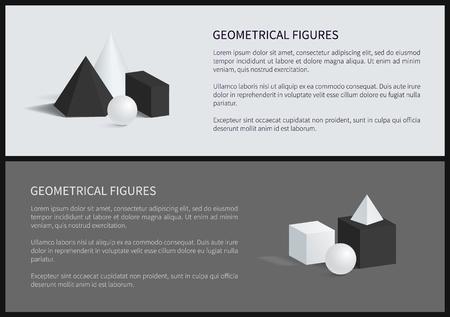 Geometrical Figures Set Text Vector Illustration