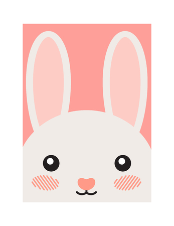 Cute Cartoon Hare Illustration, Joyful Animal