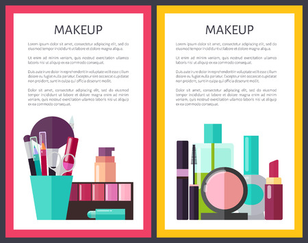 Professional Makeup Tools and Means Promo Posters