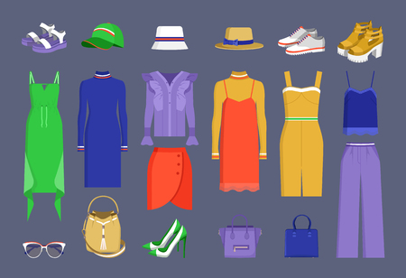 Lot of Varied Colorful Stuff Vector Illustration