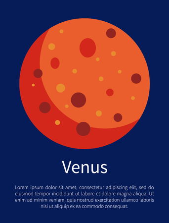 Venus Planet Symbol of Beauty Informative Poster