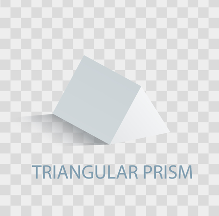Triangular Prism Geometric Figure in white Color