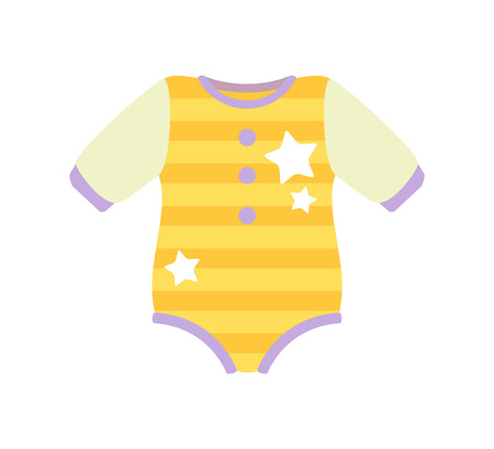 Baby Clothes Romper Suit, Vector Illustration
