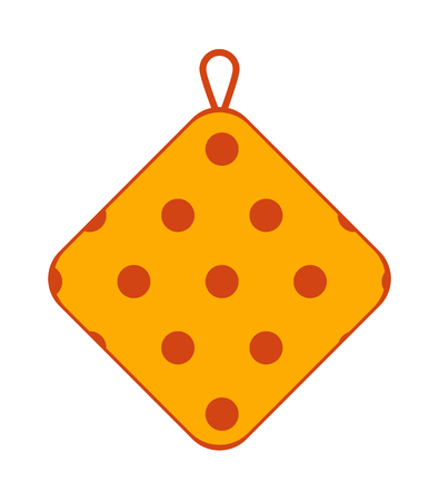 Potholder Made of Textile with Polka Dot Pattern