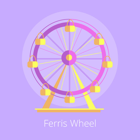 Ferris Wheel Amusement Park Vector Illustration Illustration