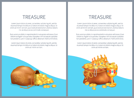 Treasure Hidden in Bags, Royal Crown and Goblet
