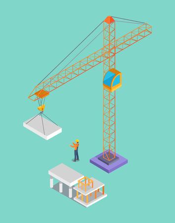 Building Banner, Colorful Vector Illustration Illustration
