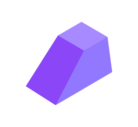 Combined Geometric Figure Prism, Colorful Banner  イラスト・ベクター素材