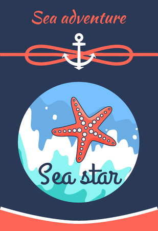 Sea Adventure Poster Title Vector Illustration