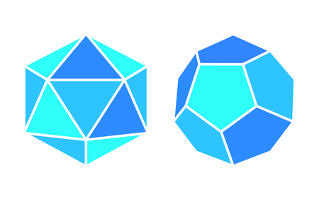 Dodecahedron Icosahedron Complicated Figures Icons