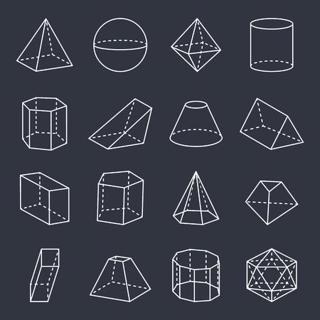 Geometrische Formen Sammlung Vektor-Illustration