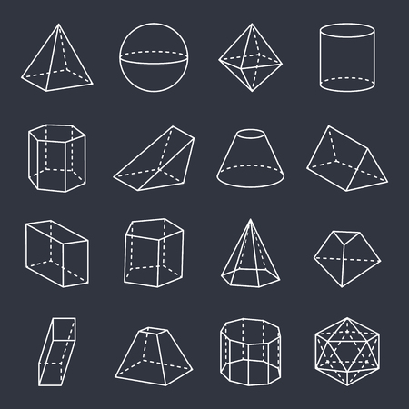 Geometric Shapes Collection Vector Illustration