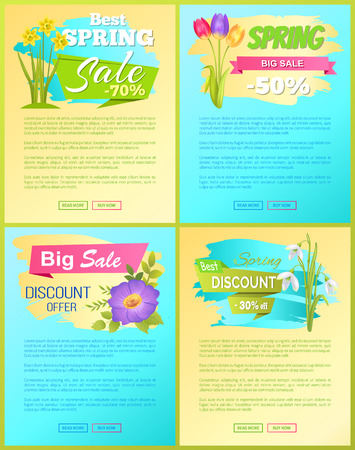Best Discount Spring Sale New Offer Premium Poster