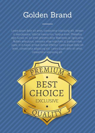 Golden Brand Premium Exclusive Best Choice Label Ilustração