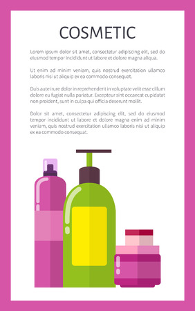 Cosmetic Means in Bottles and Jars Promo Poster