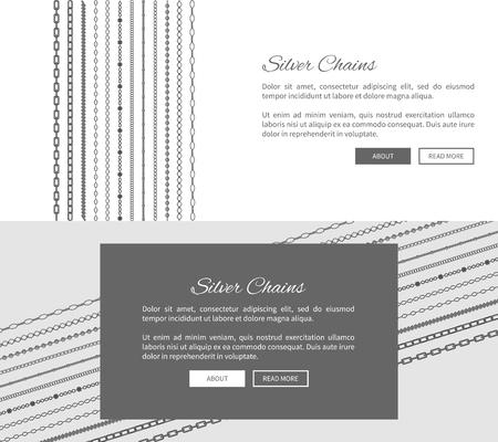 Silver Chains Internet Shop Web Page Template
