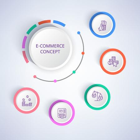 E-commerce Colorful Banner Vector Illustration