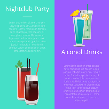 Nightclub Party Alcohol Drinks Invitation Poster