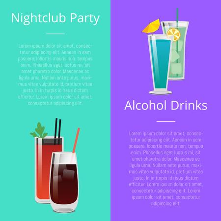 Nightclub Party Alcohol Drinks Invitation Poster