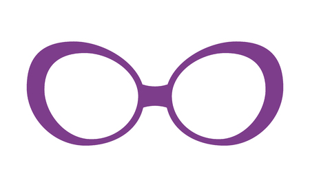 Pretty Lilac Glasses Template Colorful Poster