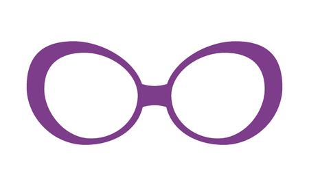 Pretty Lilac Glasses Template Colorful Poster Standard-Bild - 102053451