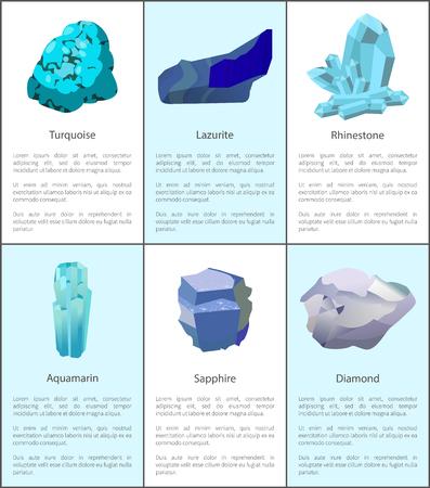 Turquoise Lazurite Rhinestone Aquamarine Sapphire