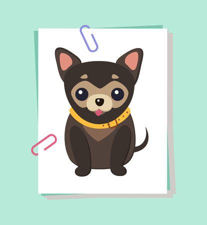 Chihuahua Dog Picture Poster Vector Illustration