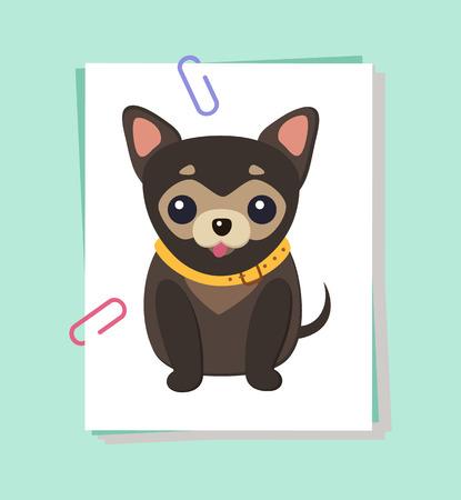 Chihuahua Hond Foto Poster Vector Illustratie Vector Illustratie