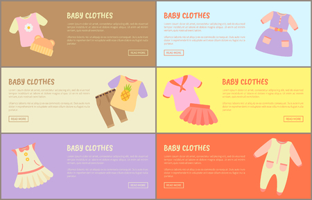 Baby Clothes Web Collections Vector Illustration
