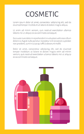 Cosmetic for Skincare and Hygiene Maintenance Illustration