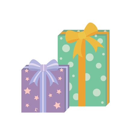 Presents with Wrapping Poster Vector Illustration Reklamní fotografie - 102053615