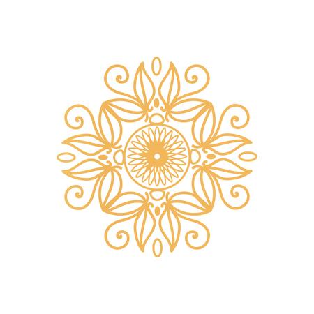 Watermark on Certificate Seal Design Golden Colors