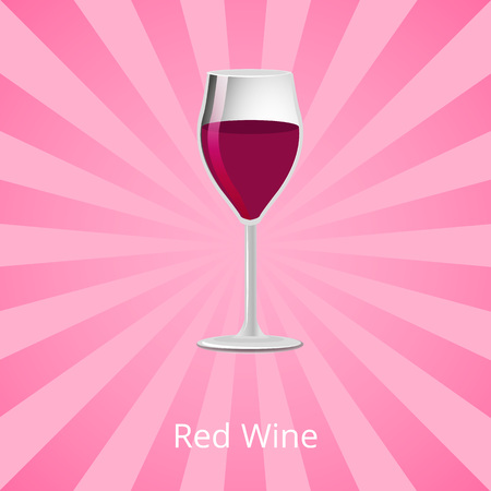 Red Wine Glass of Burgundy Classic Drink Vector