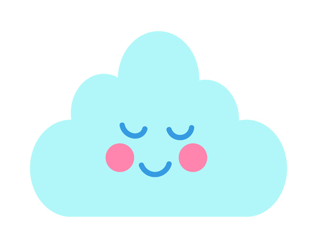 Cute Card with Cheerful Cloud Vector Illustration Illustration