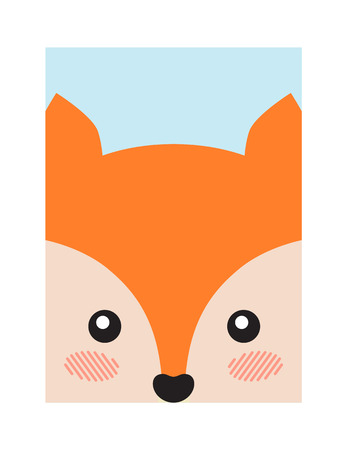 Fox Head Book Cover Design Vector Illustration 向量圖像
