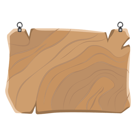 Wooden Sign with Metal Clips, Hanging Board Vector