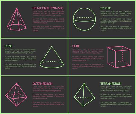 Hexagonal Pyramid and Sphere Vector Illustration