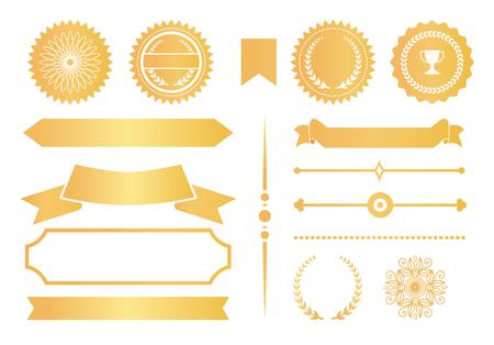 Certificate Design Elements Labels Awards Ribbons