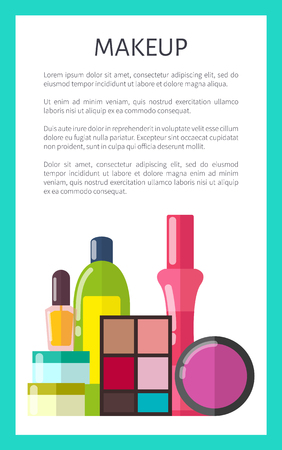 Professional Makeup Means Vertical Promo Poster Ilustrace
