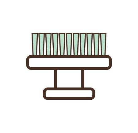 pequeño masaje del diente para la aplicación de maquillaje dental