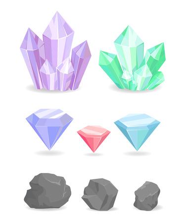 Color Crystals and Minerals Precious Diamond