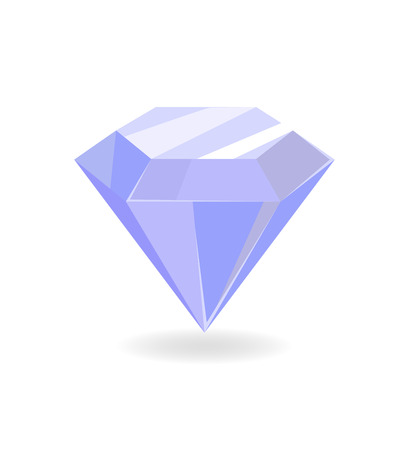 Diamond of Blue Color Poster Vector Illustration