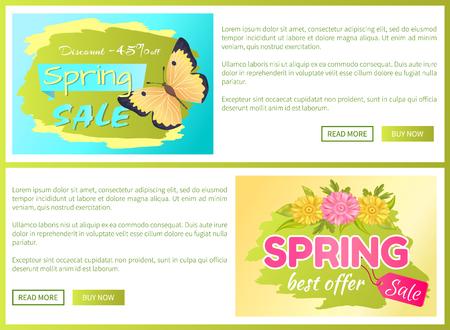 Promo Offer Spring Sale Advertisement Daisy Flower Stock Photo