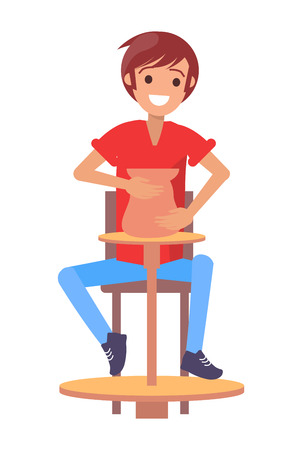 Cheerful Pottery Master, Color Vector Illustration Illustration