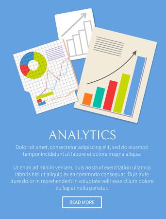 Analytics Banner Isoalted on Bright Blue Backdrop