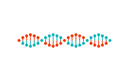 Dna Structure Colorful Poster Vector Illustration Illustration